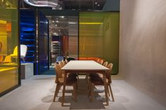 Ace chairs and Slice table at Salone del Mobile 2016