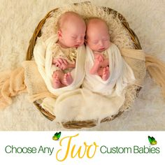 SPECIAL PRICING FOR TWINS in my #etsy shop: Choose any TWO vinyl baby kits for for a custom PAIR of Babies. Hyper-Realistic. Worldwide Shipping is available. http://etsy.me/2CnERIJ  #reborn
