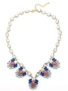 Mali-Blue Statement Necklace