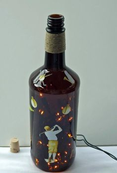 GOLFING FUN Recycled Bottle Accent Lamp/LightGreat by CanDezign, $21.00