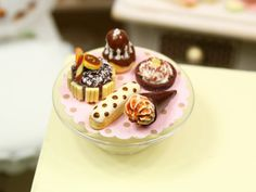 Display of French Pastries and Treats  D  by ParisMiniatures