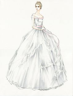 Costume design for Kitty's ball gown by Jacqueline Durran, Anna Karenina