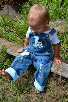 Birthday Overalls-Mickey Mouse-Baby Mickey by SmashingCupcakes