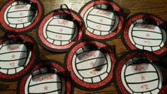 Cute volleyballs for the team! Volleyball Locker Decorations, Volleyball Crafts, Volleyball Party, Volleyball Mom, Coaching Volleyball, Volleyball Locker Signs, Volleyball Posters, Cheer Posters, Volleyball Quotes