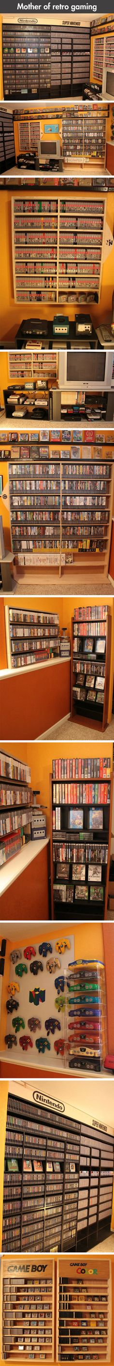 We have rounded up some awesome images of the ultimate Nintendo video game collection.