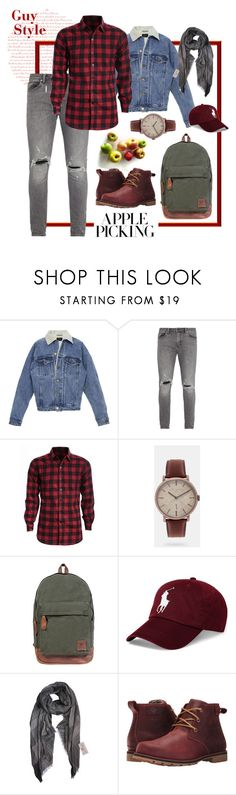 """Apple Picking Guy Style"" by dlmusiel ❤ liked on Polyvore featuring Fear of God, Neuw denim, Ted Baker, Mahi, Polo Ralph Lauren, Columbia, men's fashion, menswear and applepicking"