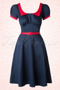 Pinup Couture Dorothy Dress Blue and Red 102 31 16420 20150729 0010W
