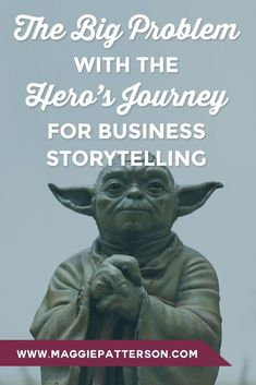 COPY SECRETS || The hero's journey for business storytelling can be all wrong. It's too epic. Too long. And it assumes your audience cares. Here's what to do instead.