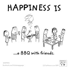 … a BBQ with friends