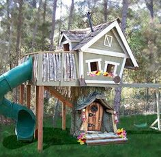 Enchanted crooked playhouse. If it didn't cost as much as a phantom I'd love to have this in my yard