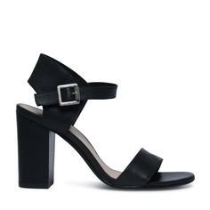 Sandalen met blokhak zwart