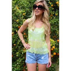 Fresh in Lime Sheer Tank #sophieandtrey #shop #online #sheer #beaded #tank #lime #summer #fun #love