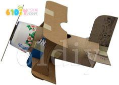 纸筒飞机手工图解
