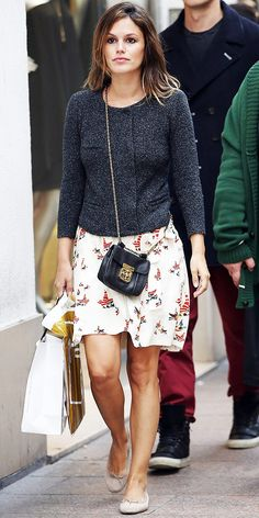 "sweater + skirt, ""Rachel Bilson"" style"