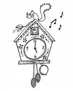 Clock Illustration   Cuckoo Clock Illustration