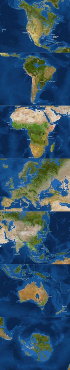 What the 7 continents would look like if all the ice in the world melted. (Source: National Geographic)