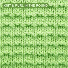 Ridge Rib - Pattern 1 - knitting in the round | Knit - Purl stitches