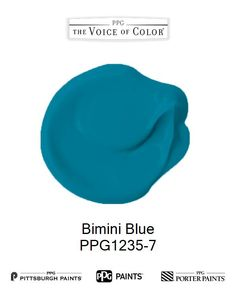 Bimini Blue is a part of the Aquas collection by PPG Voice of Color®. Browse this paint color and more collections for more paint color inspiration. Get this paint color tinted in PPG PITTSBURGH PAINTS®, PPG PORTER PAINTS® & or PPG PAINTS™ products.
