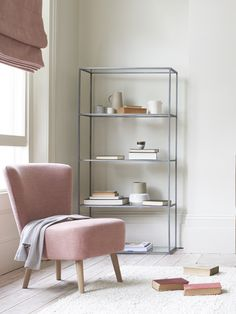 Looking for understated shelving that doesn't blow its own trumpet? This lofty lad just gets on with the job. 'Less is more' and all that! My Living Room, Living Room Decor, Living Spaces, Bedroom Decor, Bedroom Ideas, Less Is More, Boudoir, Comfy Sofa, Dream Rooms