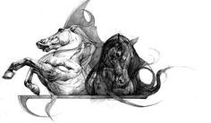 Horses by KaterinaChadoulou.deviantart.com on @DeviantArt