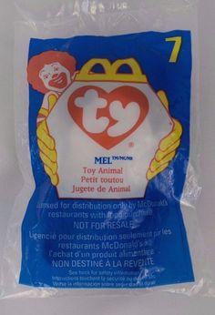 McDonalds TY Teenie Beanie Baby 1993  7 Mel NIP Factory Sealed Happy Meal  Toy   86748751a903