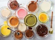 13 Donut Glaze Recipes - Saveur.com - marshmallow, cardamom, cream cheese, maple, green tea, etc
