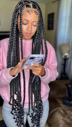 Braided Hairstyles For Black Women Cornrows, Box Braids Hairstyles For Black Women, Braids Hairstyles Pictures, Twist Braid Hairstyles, Black Girl Braids, African Braids Hairstyles, Baddie Hairstyles, Braids For Black Hair, Girls Braids