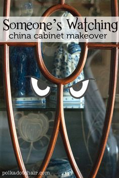Spooky China Cabinet - A fun and simple Halloween Decoration.