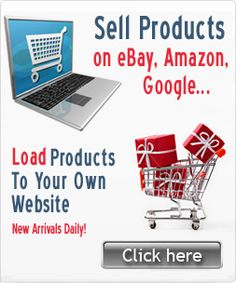 Looking for stuff to sell on Ebay, Amazon or Google? Here's a dropshipper that connects you directly to the wholesale suppliers. Products to sell on Ebay, Amazon & Google also upload easily to your website! The best part is you can sell and not have to hold inventory! What an easy way to make money by selling products online without having to ship them or keep inventory yourself! Check out this dropshipper @ http://www.wholesale2b.com?a=1181