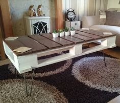 Artistic and unique Pallet coffee table #table #pallettable