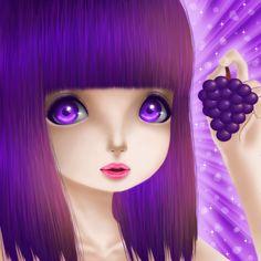 Grapes Girl by Saccstry.deviantart.com on @DeviantArt