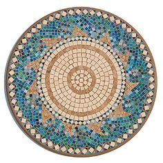 Making one of these mosaic tables has been on my to do list for years now. Will I get to it this year??? #home #decor #diy #ideas