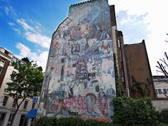 Fitzrovia mural, Whitfield Gardens, off  Tottenham Court Road, W1