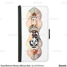 Faux Abstract Mosaic African Style Mask Case 1