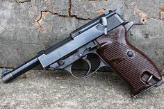 era Walther (AC is the Walther Manufacturer Code). Made in 1941 Walther World War 2 Ww2 Weapons, Military Weapons, Revolver, Fire Powers, Cool Guns, Assault Rifle, Le Far West, Guns And Ammo, Firearms