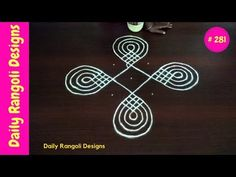 beautiful easy rangoli designs with 5 dots Rangoli Simple, Padi Kolam, Latest Rangoli, Rangoli Kolam Designs, Dots, Youtube, Beautiful, Suitcase, Stitches