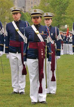 Female African-American regimental commander (2006): Christina Royal (sociology '06)