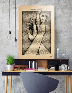 Discover «Pride & Prejudice, Page 142: Hands», Numbered Edition Aluminum Print by Rebecca Loomis - From $59 - Curioos