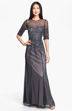 Wooo really like this one! Adrianna Papell Beaded Illusion Bodice Mesh Gown available at Nordstrom