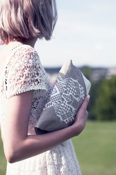 Screen Printed Leather Bags by CORIUMI