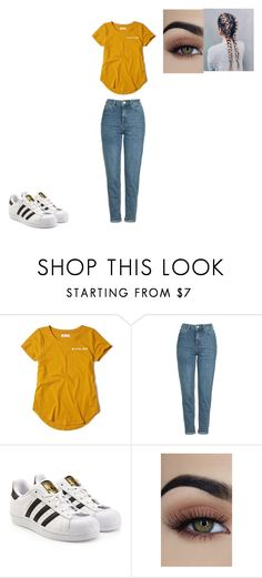 """""""Untitled #667"""" by melissaperez427 on Polyvore featuring Hollister Co., Topshop and adidas Originals"""