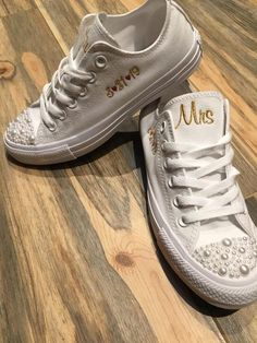 wedding shoes for bride ALL WHITE Pearl Converse , Bride Shoes, Groom shoes, Wedding Embroidered Converse. Wedding shoes, we Wedding Converse, Wedding Shoes Bride, Bride Shoes, Bride Converse, Wedding Sneakers, All White Converse, Converse Low Tops, Sneaker Quotes, Alternative Wedding Shoes