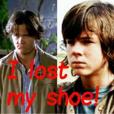 I lost my shoe!  The Walking Dead / Supernatural