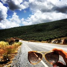 #vintage#road#trip#way#sunglasses#sky#holiday#old#retro