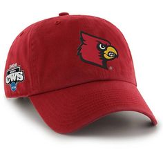 sale retailer d52a2 84172 Louisville Cardinals 47 Brand 2014 College World Series CWS Adjustable Hat  Cap