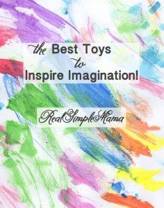 Kids love to live in imaginary worlds! Here are some of the toys that spark that imagination (thanks to Real Simple Mama)