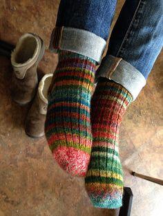 Magic Zauberball Stripe Socks by Tofutrulla