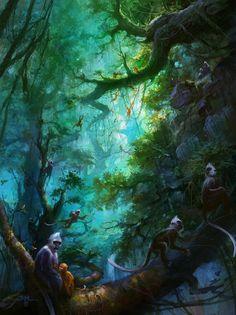 Fantasy Worlds by Ming Fan | Cruzine