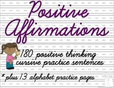 This is a set of 180 sentences (one for each day!) of positive affirmations. Use…