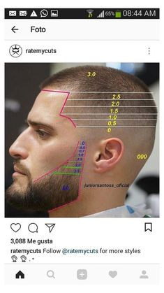 Barber Haircuts, Cool Haircuts, Hairstyles Haircuts, Haircuts For Men, Haircut Diy, Beard Haircut, Beard Styles For Men, Hair And Beard Styles, Gents Hair Style
